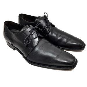 Mezlan Black Leather Derby Shoes